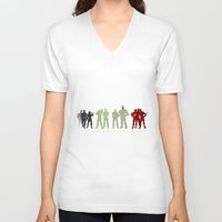 pacific rim V-neck T-shirts featuring Pacific Rim: We Believed in Each Other by MNM Studios