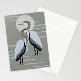 Great Blue Heron Pair Stationery Cards