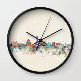 Paris city skyline  Wall Clock