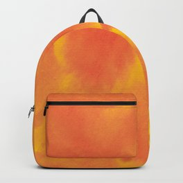 Watercolor texture - yellow and orange Backpack