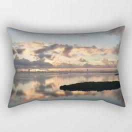 Biscayne Bay sunrise Rectangular Pillow
