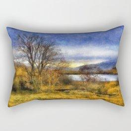 Fall Lake Rectangular Pillow