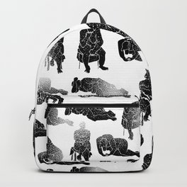b&w fading figures Backpack