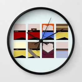 Enterprise 1701 D - Minimalist Star Trek TNG The Next Generation - startrek - Trektangles  Wall Clock