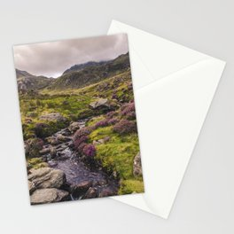 Cwm Idwal Snowdonia Eryri Walk Mountain Heather Wales Stationery Cards