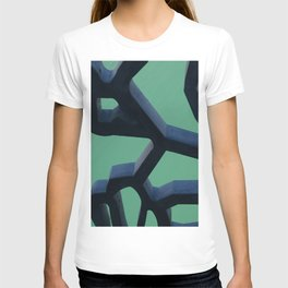 Grid and sea view T-shirt