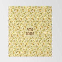 Send Noods Throw Blanket
