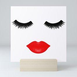 Lips and Lashes Mini Art Print