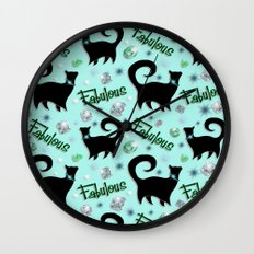 Fabulous Felines Wall Clock