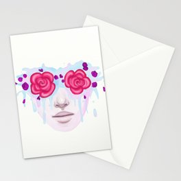 Rose Colored Stationery Cards