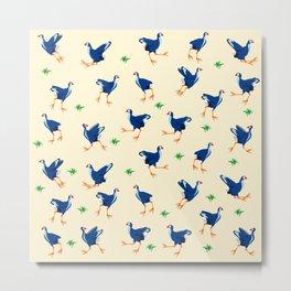 Pukeko swamp hen pattern Metal Print