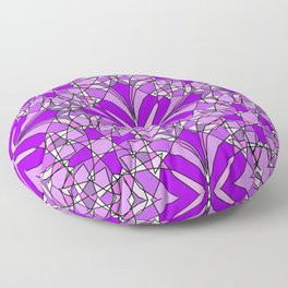 Purple Stained Glass Floor Pillow