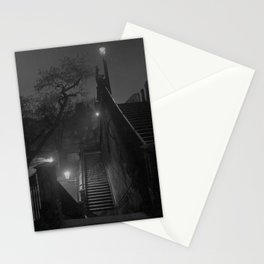 Paris After Midnight, cityscape black and white photograph / black and white photography Stationery Cards