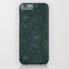 Botanical Garden in the Moonlight iPhone Case
