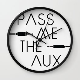Pass Me The Aux Podcast Original Logo Wall Clock