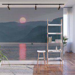 Sunset over the Fjord du Saguenay Wall Mural