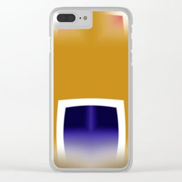 Yellow and Blue Abstract Art Clear iPhone Case