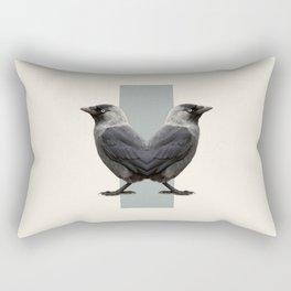 Double Animals: Birds Rectangular Pillow