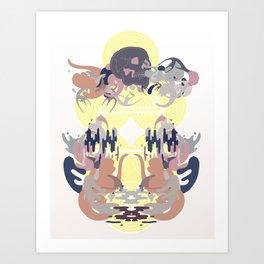 Skulls on the Water Art Print