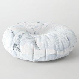 White winter glacier icelandic landscape photography Floor Pillow