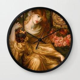 """Dante Gabriel Rossetti """"Roman Widow"""" Wall Clock"""