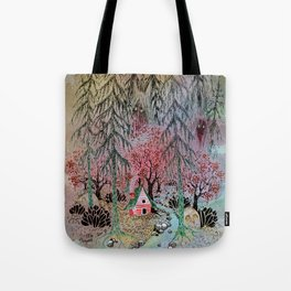 A little house in the woods Tote Bag