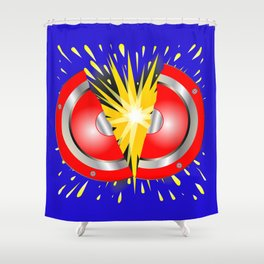 Rock Guitar Speaker Explosion Shower Curtain