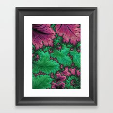 Fern Fractal Framed Art Print
