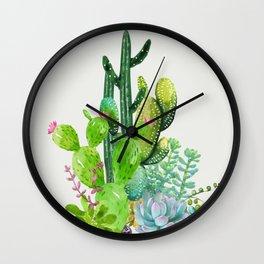 Cactus Garden II Wall Clock