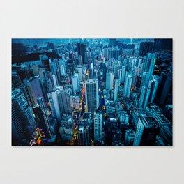 Hong Kong downtown at night Canvas Print