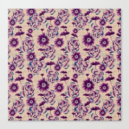 Extra flowers field Canvas Print