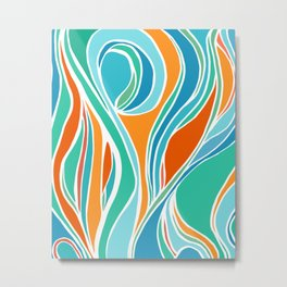 Campfire Abstract Metal Print