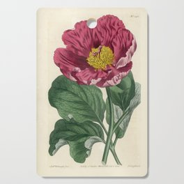 Daurian Peony / W. Curtis 1857 Cutting Board