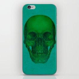 Green Skull iPhone Skin