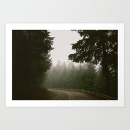 Driving Through Oregon Art Print