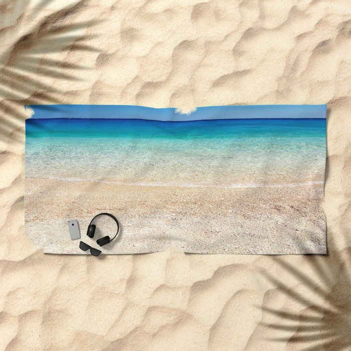 Aqua Water Beach Beach Towel