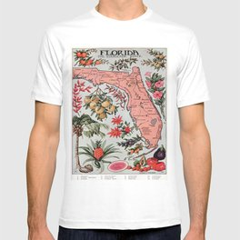 Vintage Map of Florida (1917) T-shirt