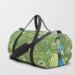 The Majestic Peacock Duffle Bag