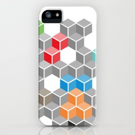 Isometric confusion iPhone Case