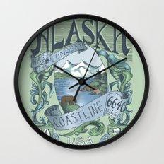 Alaska Vintage Postage Stamp Wall Clock