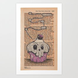 Book Page Art: the Muffin Art Print