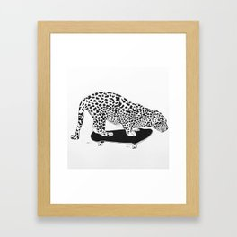 Skater cheeta Framed Art Print