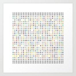 Pi Dots Art Print
