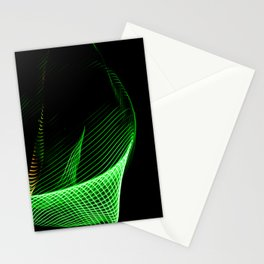 Abstract colorful lines on dark background. Patterns made with lightpainting. Stationery Cards