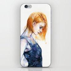 heliotropic girl iPhone Skin