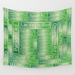 Las Vegas Street Signs Wall Tapestry