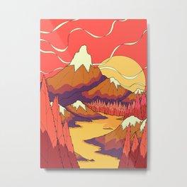 The hot yellow river lands Metal Print