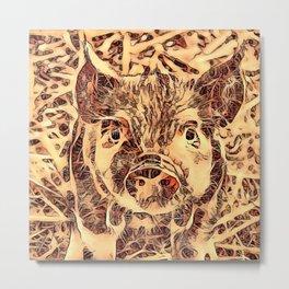 Animal ArtStudio -amazing piglet Metal Print
