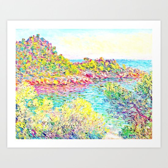 MONET : Landscape Near Montecarlo Art Print