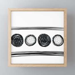 Black White One Framed Mini Art Print